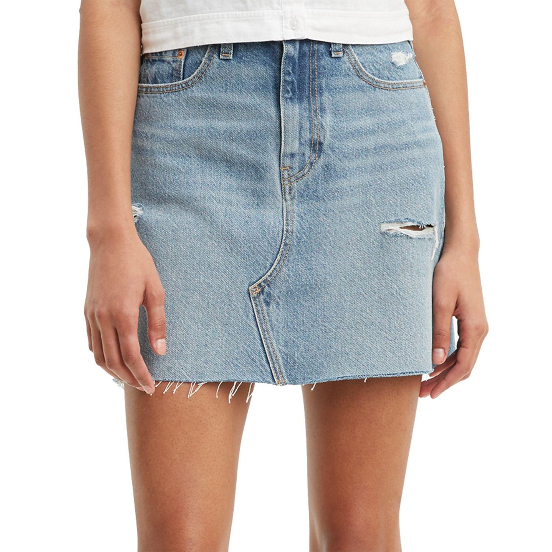 Women's Levi's® High Rise Frayed Jean Skirt