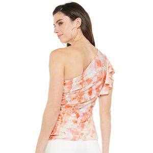 Women's Jennifer Lopez One-Shoulder Flutter-Sleeve Blouse