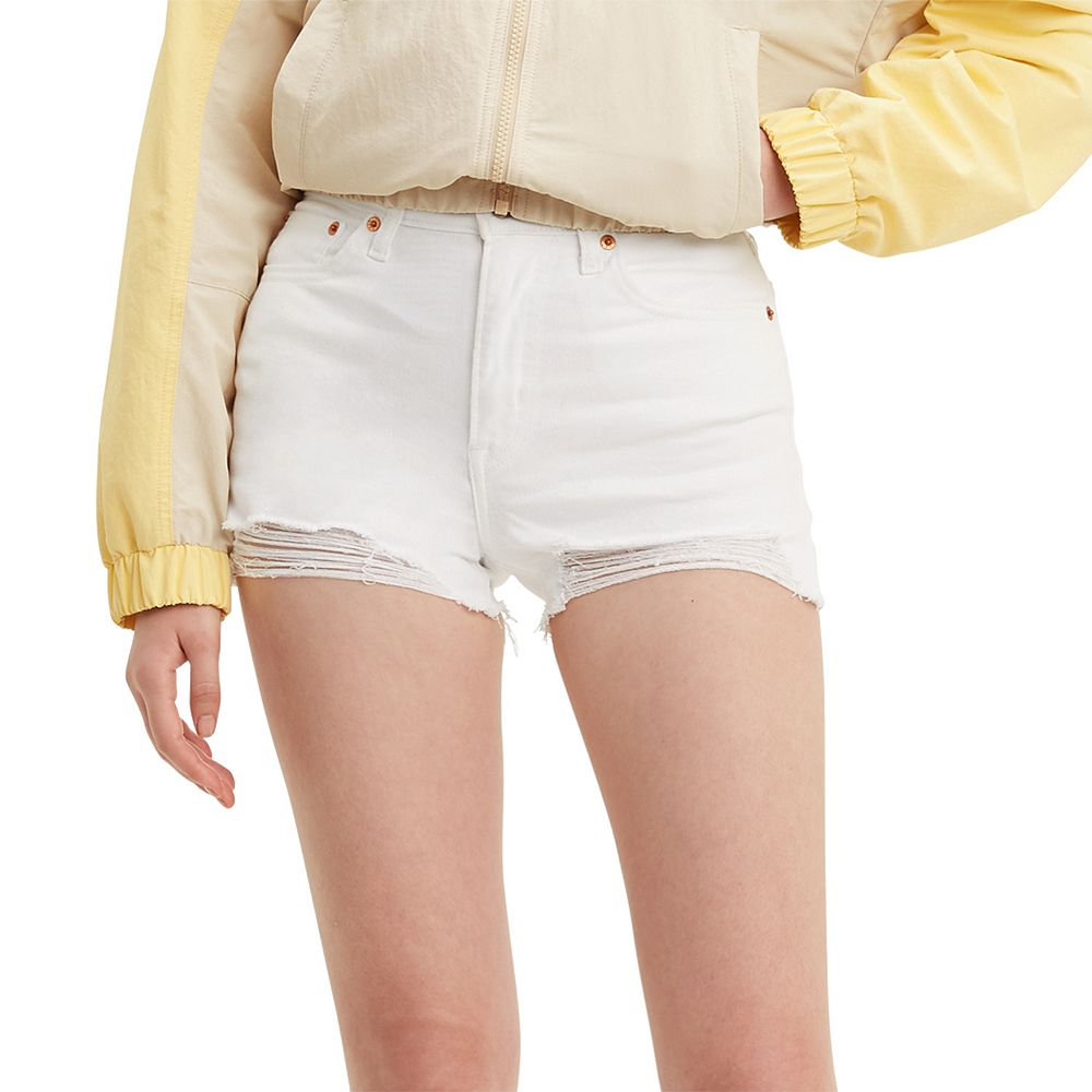 Women's Levi's® High-Rise Frayed Jean Shorts
