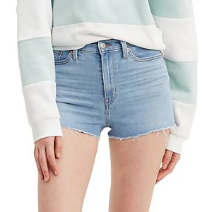 Women's Levi's® High-Rise Frayed Jean Shorts