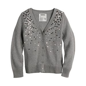 Girls 4-12 Sonoma Goods For Life® Sparkle Cardigan