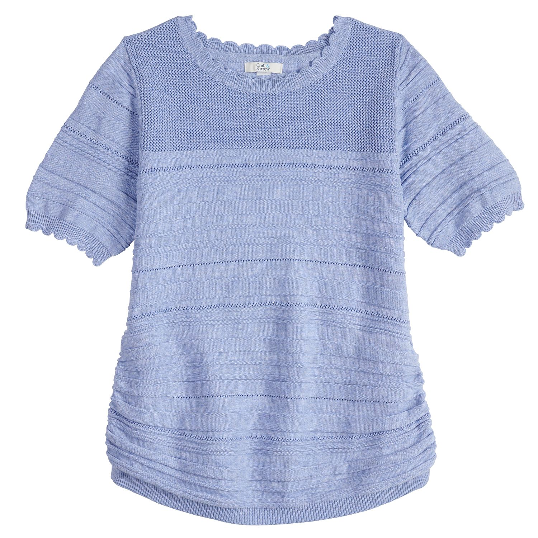 Women's Croft & Barrow® Ruched Textured Sweater