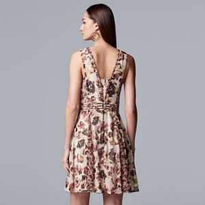 Women's Simply Vera Vera Wang Mixed Print Dress