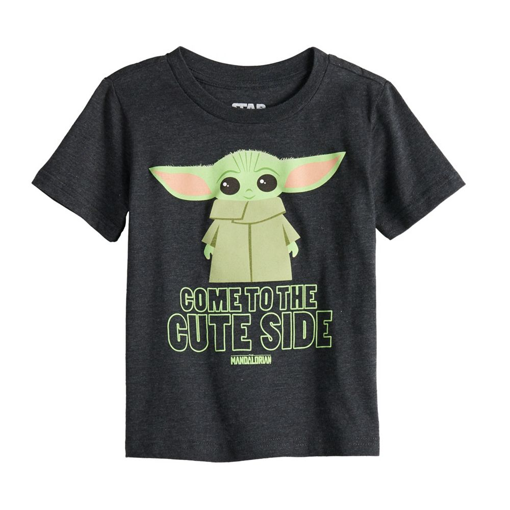 """Disney's The Mandalorian Toddler Boy The Child aka Baby Yoda """"Come To The Cute Side"""" Graphic Tee by Jumping Beans®"""