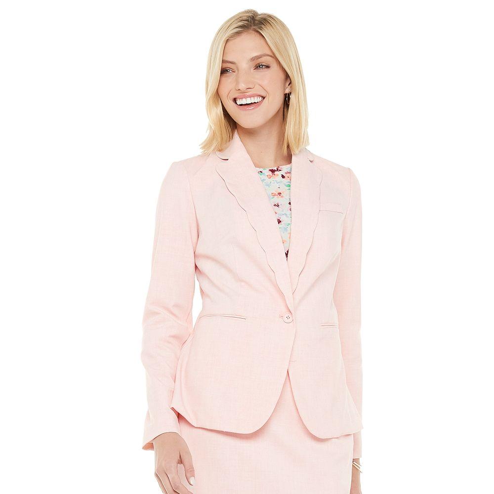 Women's ELLE™ Scallop Collar Blazer