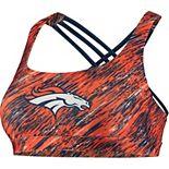 Women's Orange Denver Broncos Static Rain Sports Bra