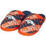 Men's Orange Denver Broncos Digital Print Slippers