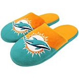 Men's Miami Dolphins Colorblock Slide Slippers