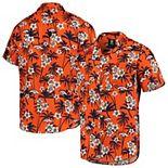 Men's Orange Denver Broncos Floral Woven Button-Up Shirt
