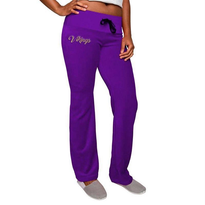 Women's Purple Minnesota Vikings Velour Suit Pants, Size: Small