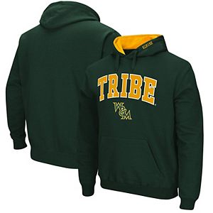 Men's Colosseum Green William & Mary Tribe Arch & Logo Pullover Hoodie