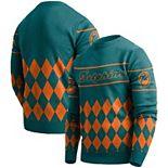 Men's Aqua Miami Dolphins Retro Sweater