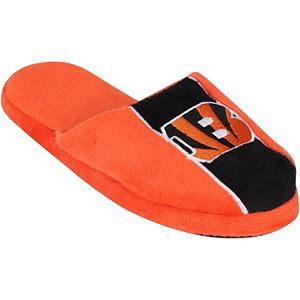 Youth Cincinnati Bengals Big Logo Stripe Slippers
