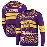 Men's Purple/Gold Minnesota Vikings Light Up Ugly Sweater