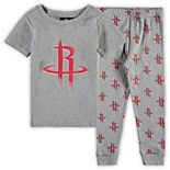 Preschool & Toddler Heathered Gray Houston Rockets T-Shirt & Pants Sleep Set