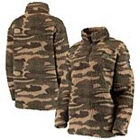 Women's Camo Purdue Boilermakers OHT Military Appreciation Sherpa Quarter-Zip Pullover Jacket