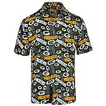 Men's Green Green Bay Packers Repeat Logo Button-Up Shirt