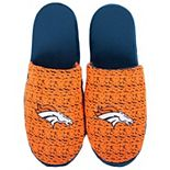 Men's Denver Broncos Knit Slide Slippers