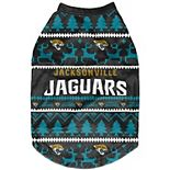 Jacksonville Jaguars Holiday Wordmark Dog Sweater