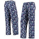 Women's Royal/Red New York Giants Retro Repeat Print Sleep Pants
