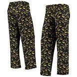 Women's Black/Gold Pittsburgh Steelers Retro Repeat Print Sleep Pants
