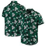 Men's Green New York Jets Floral Woven Button-Up Shirt