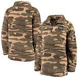 Women's Camo South Carolina Gamecocks OHT Military Appreciation Sherpa Quarter-Zip Pullover Jacket