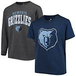 Youth Fanatics Branded Navy/Charcoal Memphis Grizzlies Square T-Shirt Combo Set