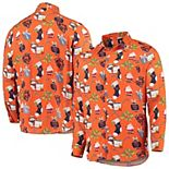 Men's Orange Chicago Bears Winter Explosion Long Sleeve Woven Button-Up Shirt