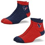 Women's For Bare Feet Houston Texans 2-Pack Sleep Soft Socks