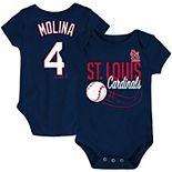Newborn & Infant Majestic Yadier Molina Navy St. Louis Cardinals Baby Slugger Name & Number Bodysuit