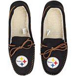 Men's Pittsburgh Steelers Big Logo Moccasin Slippers