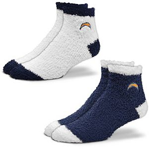 Women's For Bare Feet Los Angeles Chargers 2-Pack Sleep Soft Socks