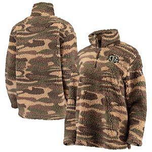 Women's Camo Texas A&M Aggies OHT Military Appreciation Sherpa Quarter-Zip Pullover Jacket