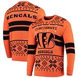 Men's Orange/Black Cincinnati Bengals Light Up Ugly Sweater