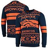 Men's Navy/Orange Denver Broncos Light Up Ugly Sweater