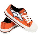 Youth Orange Denver Broncos Low Top Big Logo Canvas Shoes