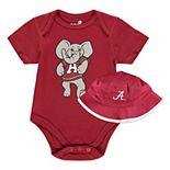 Infant Crimson Alabama Crimson Tide Bodysuit & Bucket Hat Combo Set