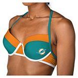 Women's Aqua Miami Dolphins Bikini Top