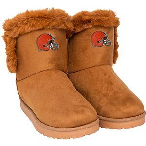 Women's Cleveland Browns Fur Boots