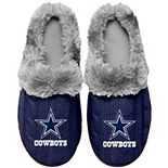 Women's Dallas Cowboys Cable Knit Slide Slippers