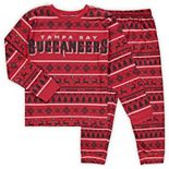 Preschool Red/Black Tampa Bay Buccaneers Wordmark Long Sleeve T-Shirt & Pants Pajama Set