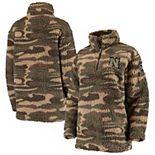 Women's Camo Nebraska Cornhuskers OHT Military Appreciation Sherpa Quarter-Zip Pullover Jacket