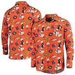Men's Orange Denver Broncos Winter Explosion Long Sleeve Woven Button-Up Shirt