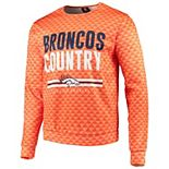 Men's Orange Denver Broncos Slogan Pullover Sweatshirt