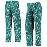Women's Aqua/Orange Miami Dolphins Retro Repeat Print Sleep Pants