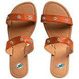 Women's Miami Dolphins Double-Strap Sandals