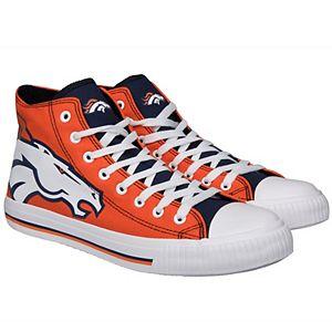 Men's Denver Broncos Big Logo High Top Sneakers