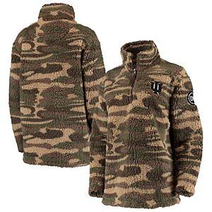 Women's Camo Indiana Hoosiers OHT Military Appreciation Sherpa Quarter-Zip Pullover Jacket