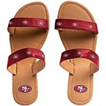 Women's San Francisco 49ers Double-Strap Sandals